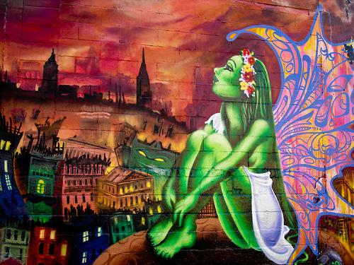 graffiti lady pink