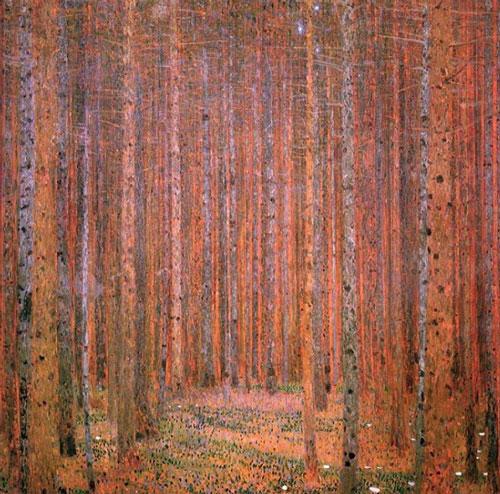 gustav-klimt-pine-forest