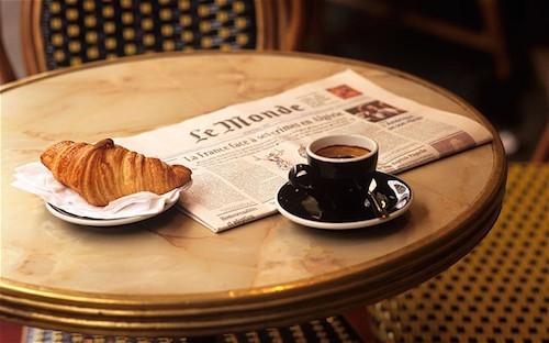 saint tropez croissant coffee