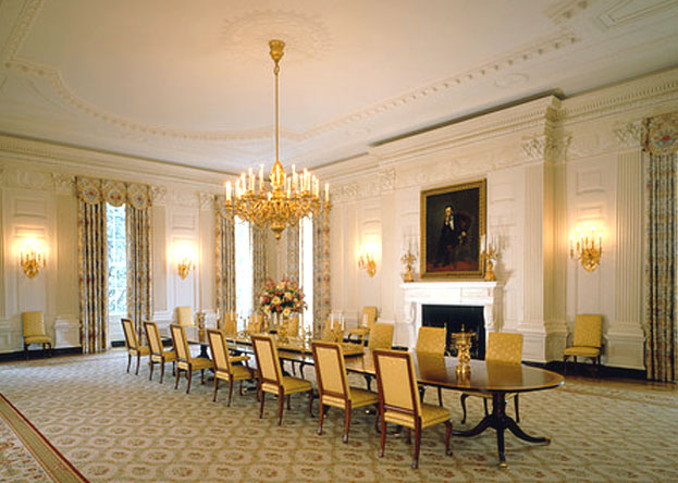 white-house-state-dining-room clinton