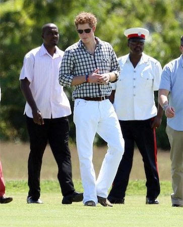 zr men white pants harry